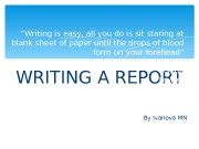 Презентация Writing a report