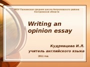 Презентация Writing an opinion essay
