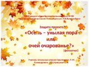 Защита проекта  «Осень – унылая пора или
