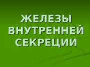 Презентация ZhELEZ VNUTRENNEJ SEKRETsII original