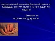Презентация Zmishane i shtuchne vigod 3 kurs